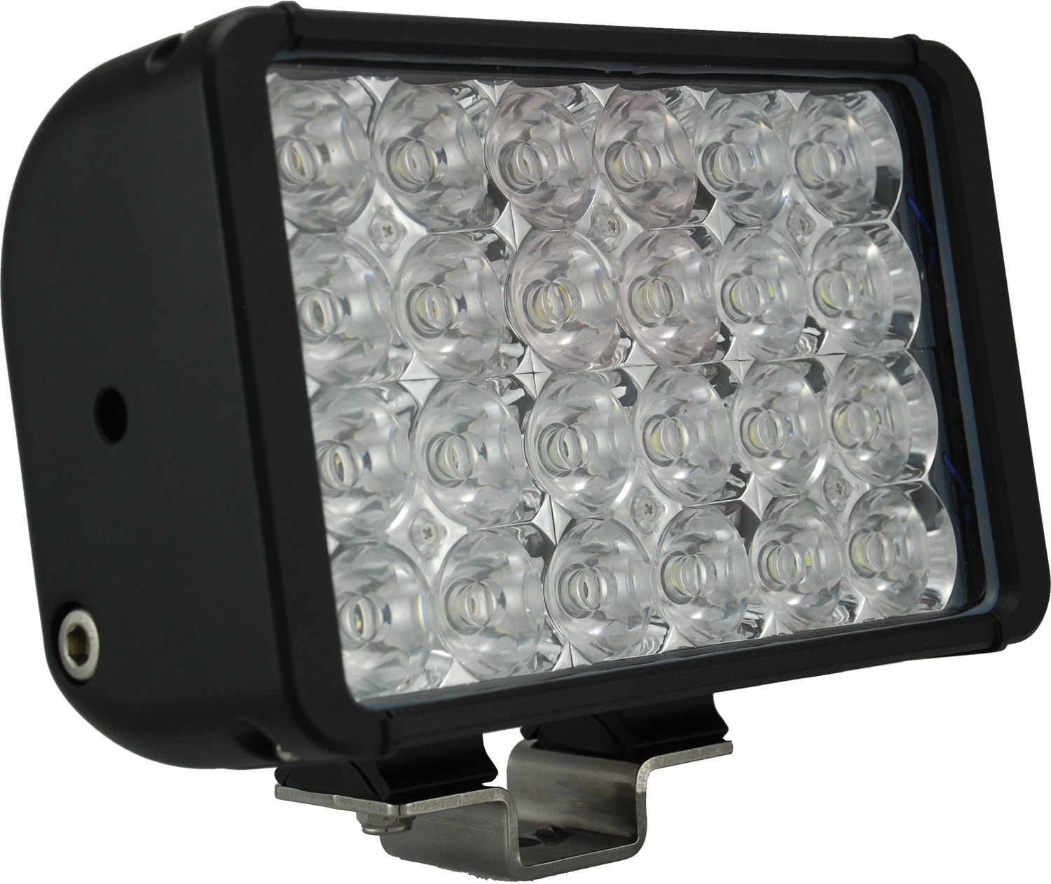 8 inch XMITTER DOUBLE BAR BLACK 24 3W LED'S FLOOD