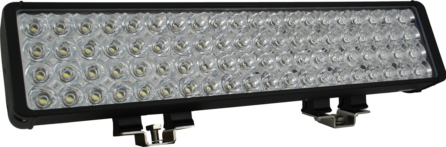 "22"" XMITTER DOUBLE BAR BLACK 80 3W LED'S FLOOD"