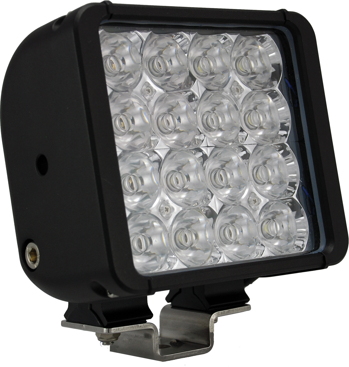 6 inch XMITTER DOUBLE BAR BLACK 16 3W LED'S FLOOD