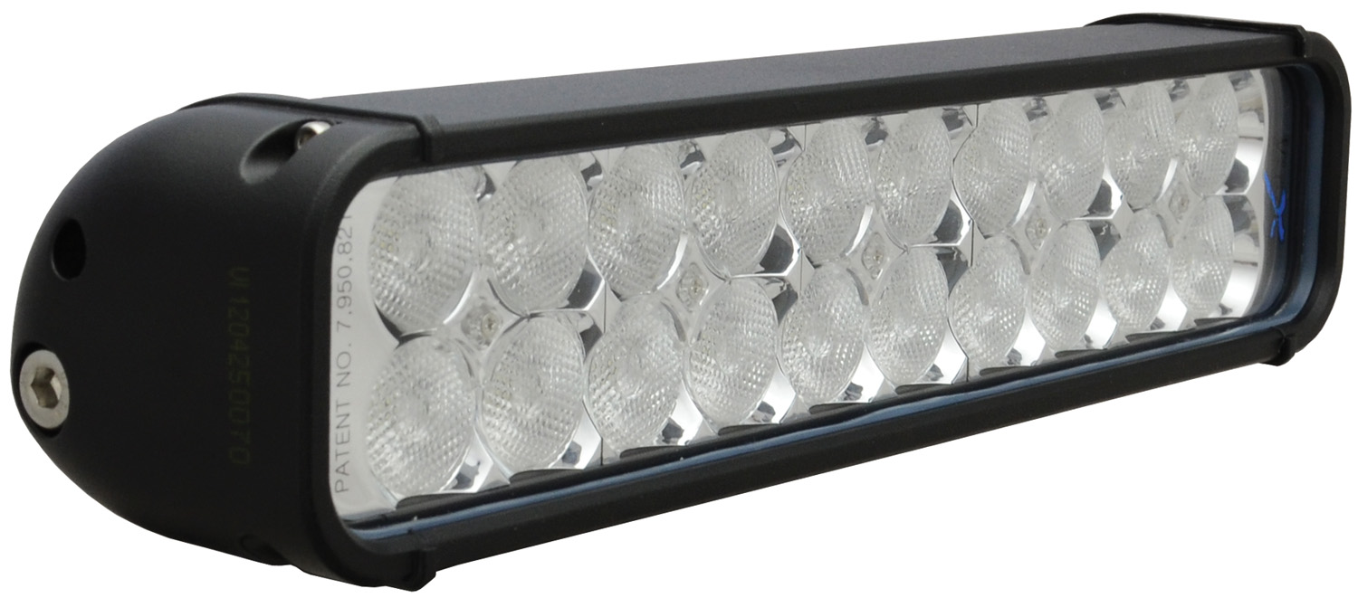 "12"" XMITTER LED BAR BLACK 20 3W LED'S FLOOD"
