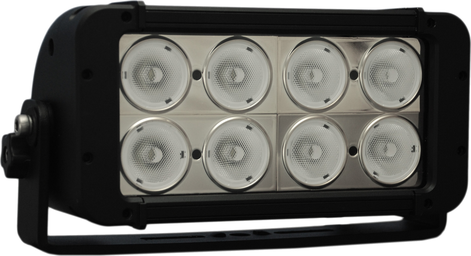"8"" EVO PRIME DOUBLE LED BAR BLACK 8 10W LED'S WIDE"