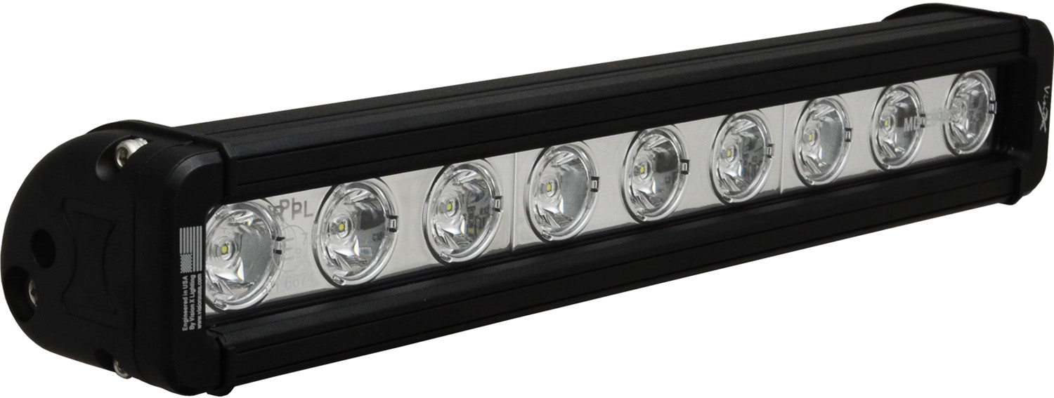 "12"" XMITTER LOW PROFILE BLACK 9 3W LED'S 10ç NARROW"