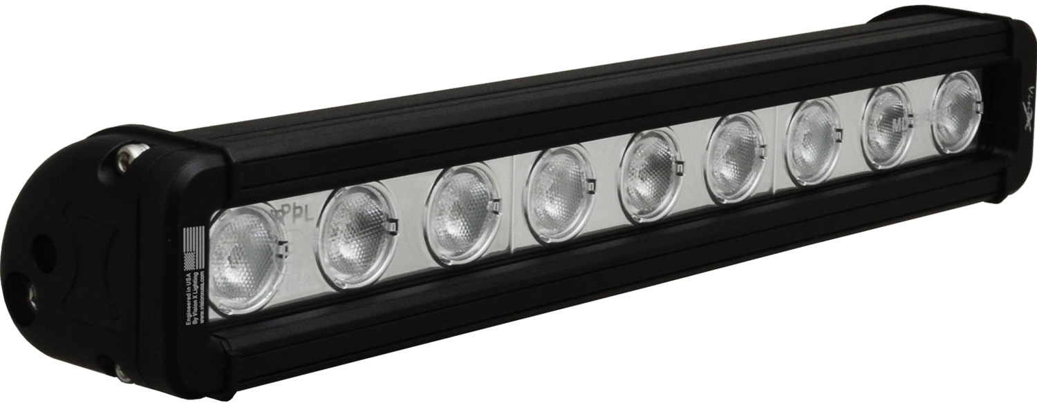 "12"" XMITTER LOW PROFILE BLACK 9 3W LED'S 40ç WIDE"