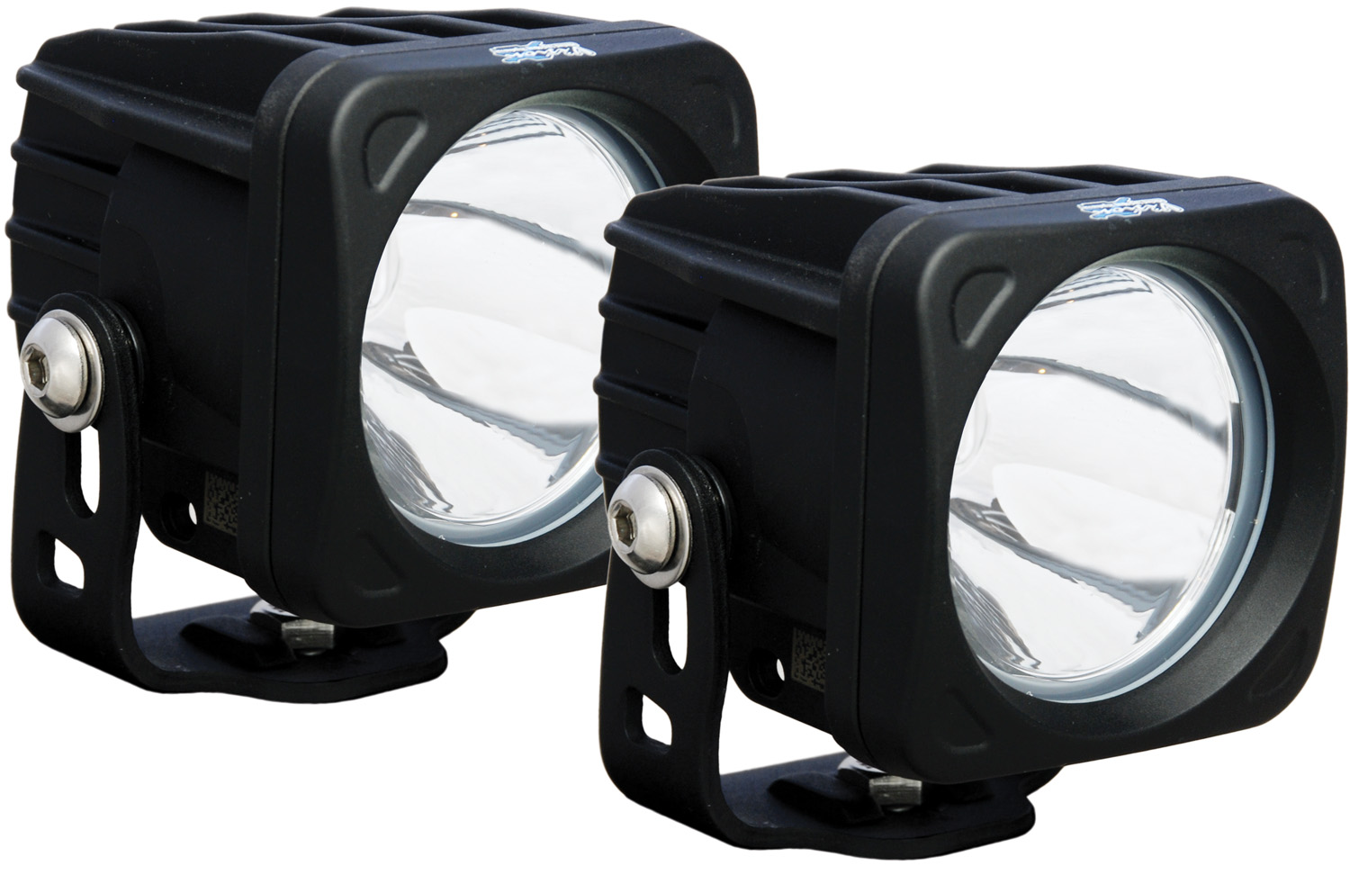 OPTIMUS SQUARE BLACK 1 10W LED 10° NARROW KIT OF 2 LIGHTS