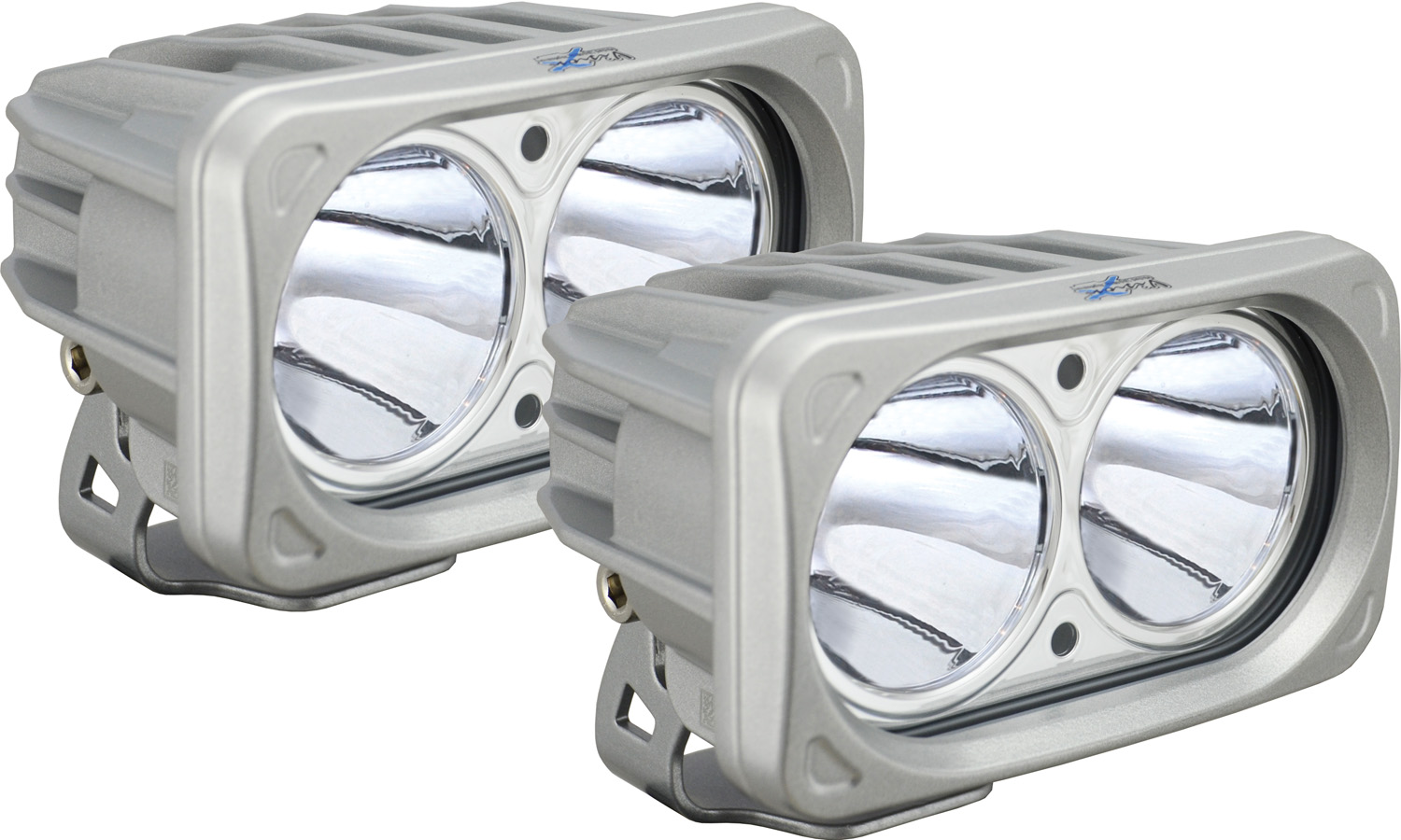 OPTIMUS SQUARE SILVER 2 10W LEDS 10° NARROW