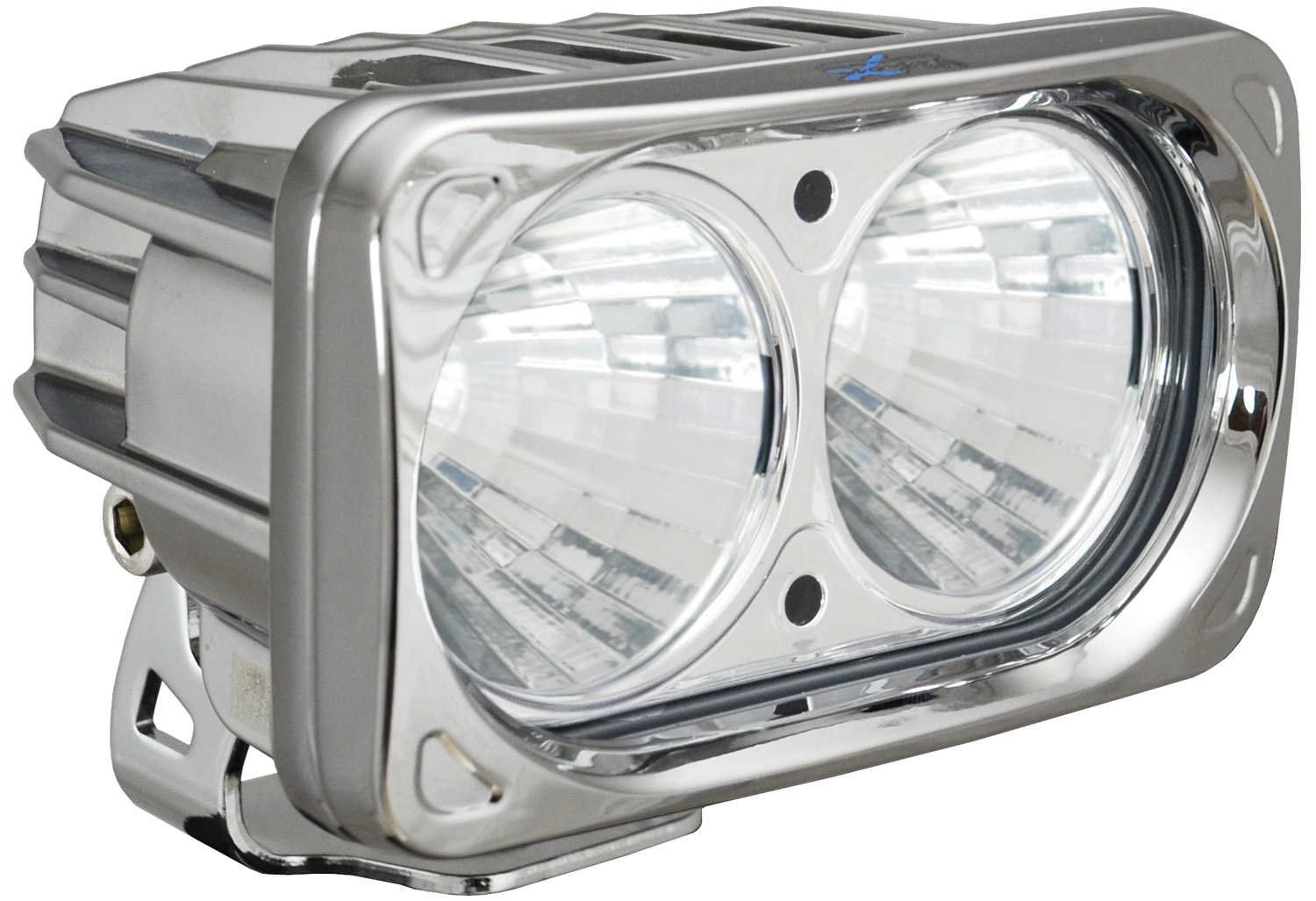 OPTIMUS SQUARE CHROME 2 10W LEDS 20° MEDIUM