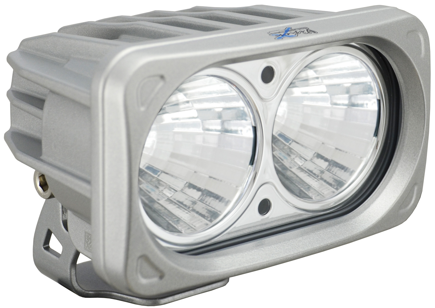 OPTIMUS SQUARE SILVER 2 10W LEDS 20° MEDIUM