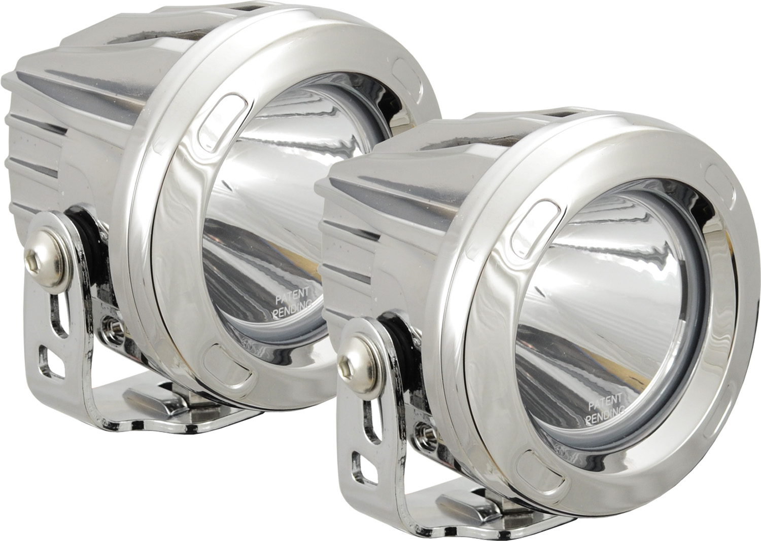 OPTIMUS ROUND CHROME 1 10W LED 60ç FLOOD KIT OF 2 LIGHTS