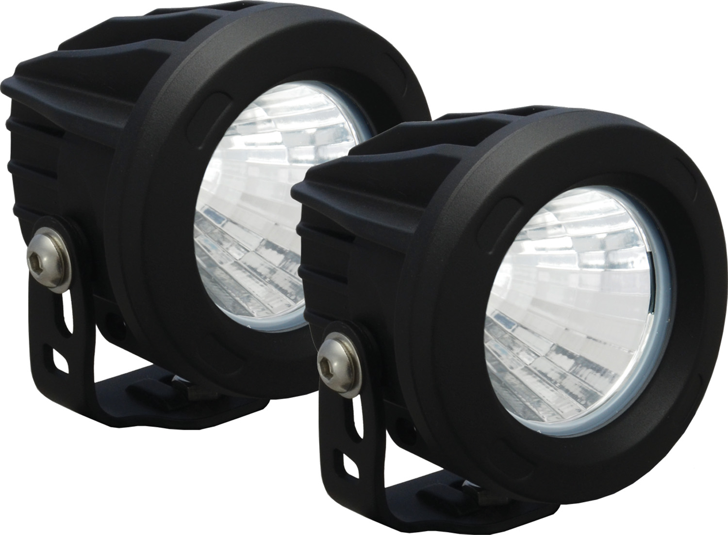 OPTIMUS ROUND BLACK 1 10W LED 20ç MEDIUM KIT OF 2 LIGHTS
