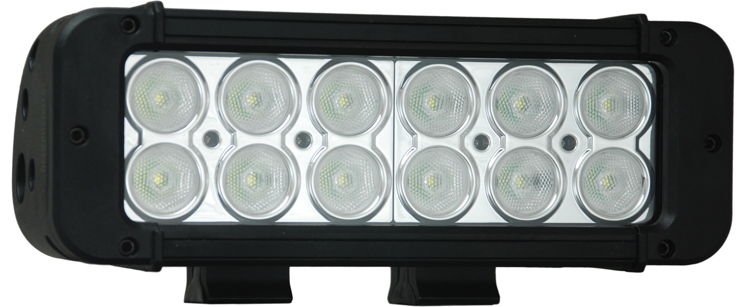 8 inch XMITTER PRIME LED BAR BLACK TWELEVE 3-WATT LED'S 40 DEGREE WI