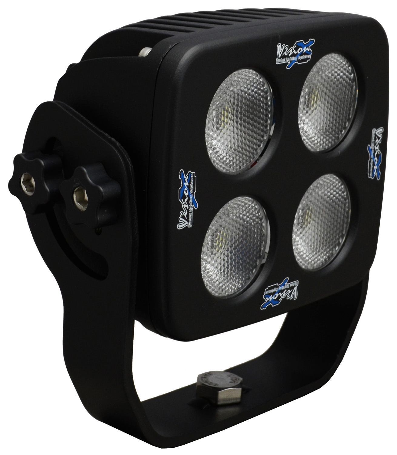 "4"" SQUARE SOLSTICE BLACK 4 10W LED 35ç WIDE"