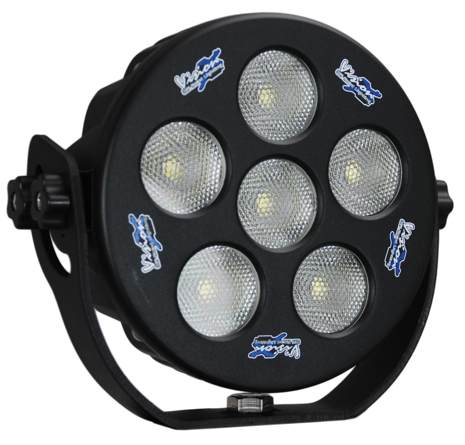 "6"" ROUND SOLSTICE BLACK 6 10W LED 35ç WIDE"