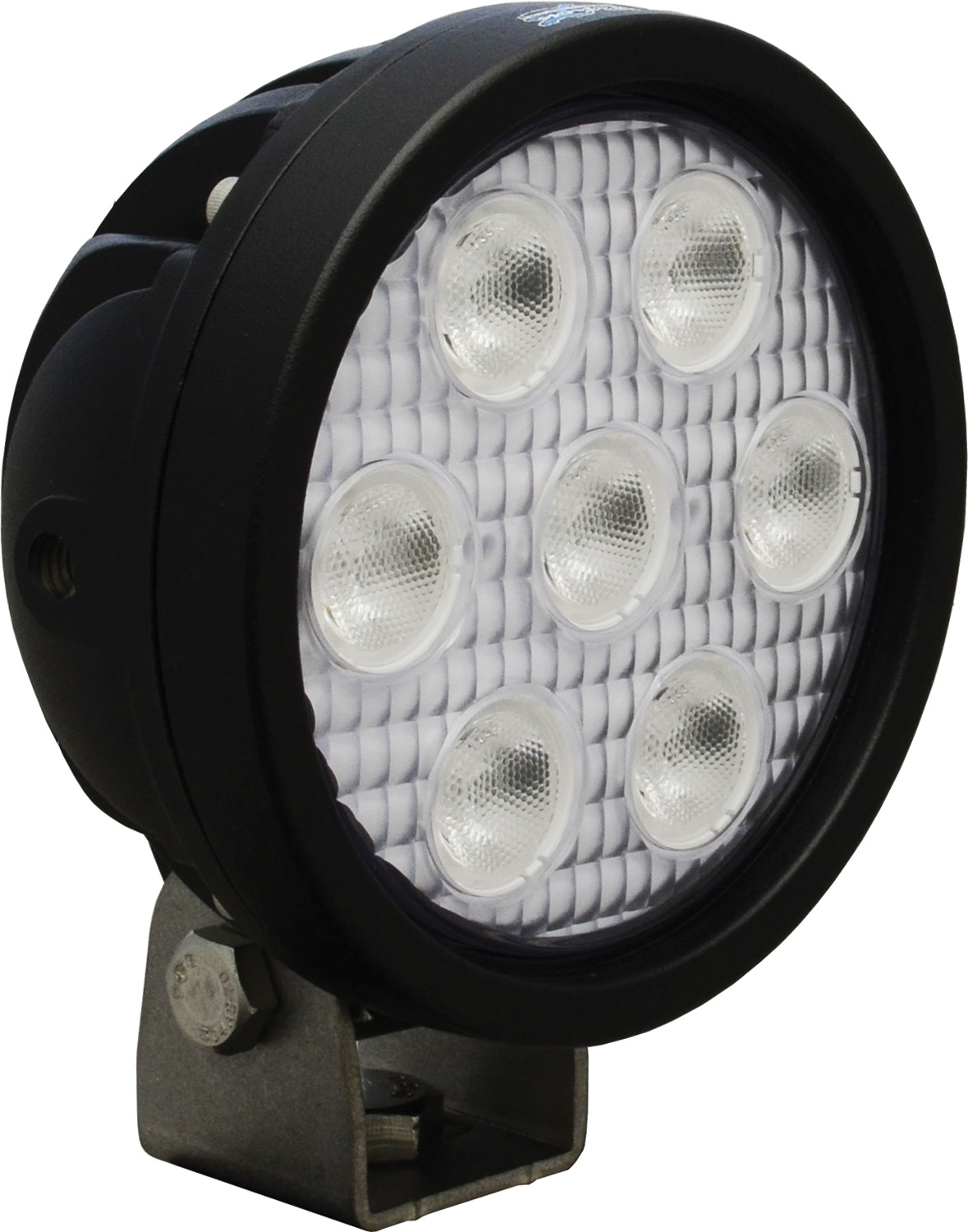 4 inch ROUND UTILITY MARKET BLACK 7 3W BLUE LED'S 40ç WIDE