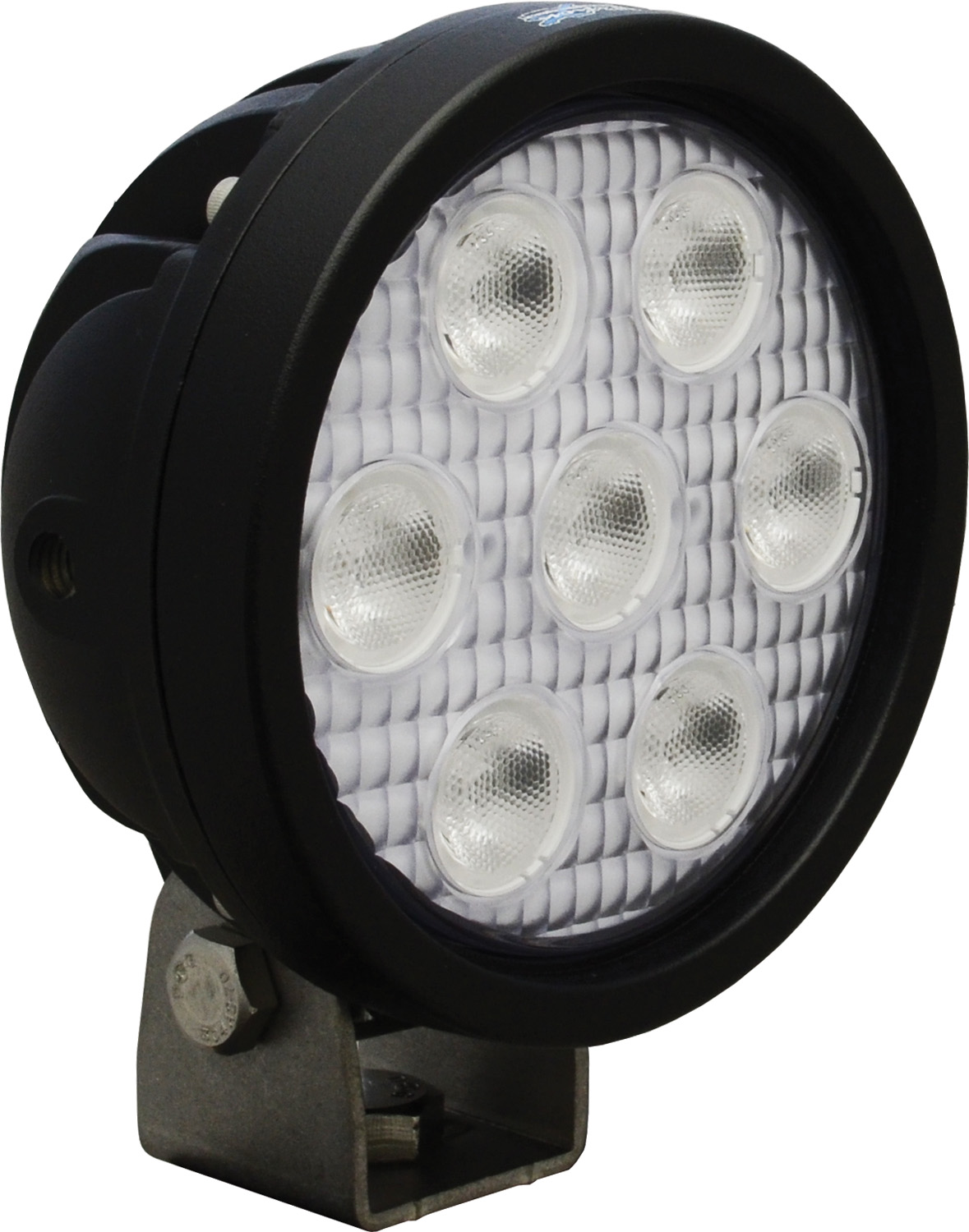 "4"" ROUND UTILITY MARKET BLACK 7 3W RED LED'S 40ç WIDE"