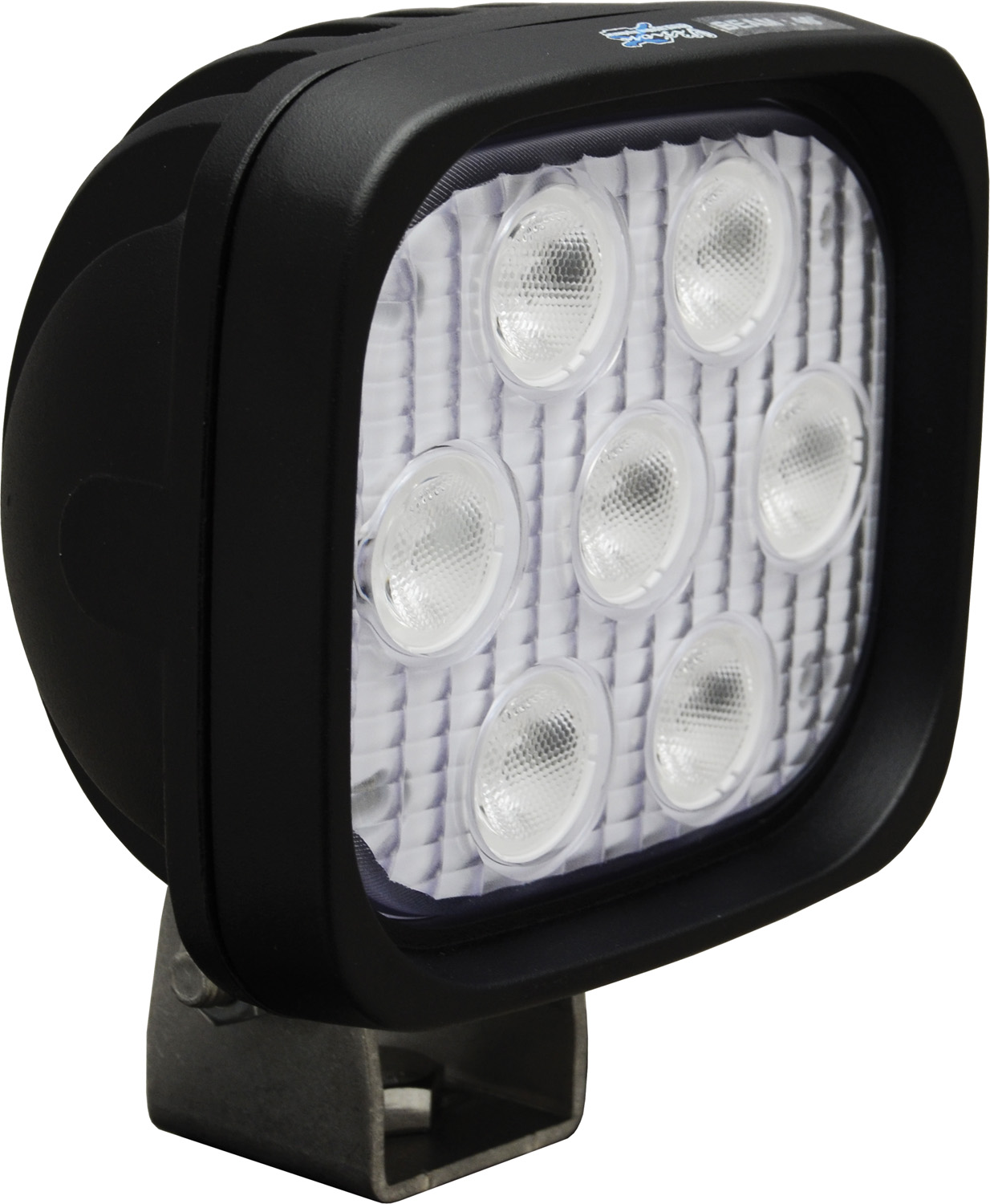 4 inch SQUARE UTILITY MARKET BLACK 7 3W AMBER LED'S 40ç WIDE