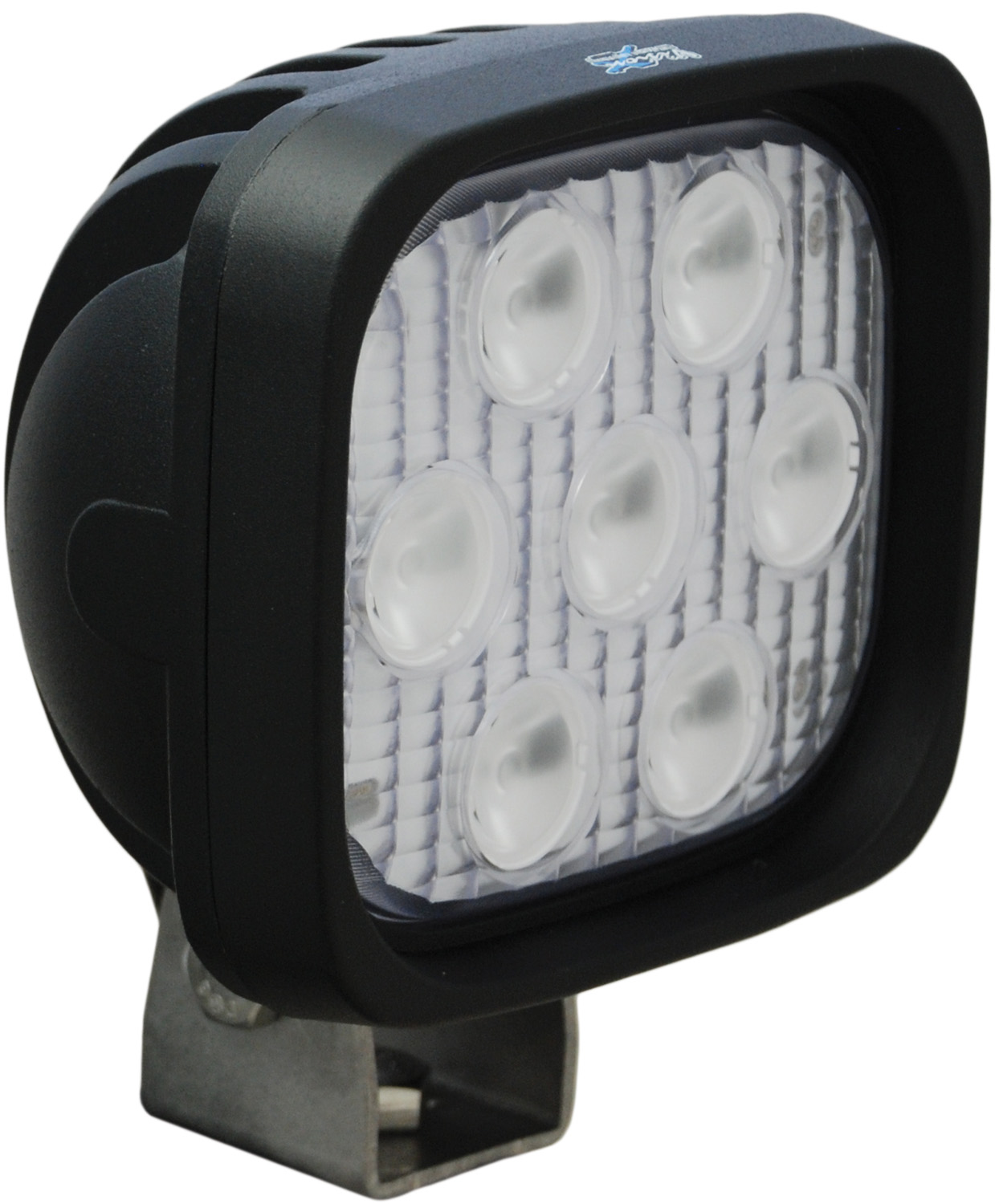 4 inch SQUARE UTILITY MARKET BLACK 7 3W LED'S 60ç EXTRA WIDE