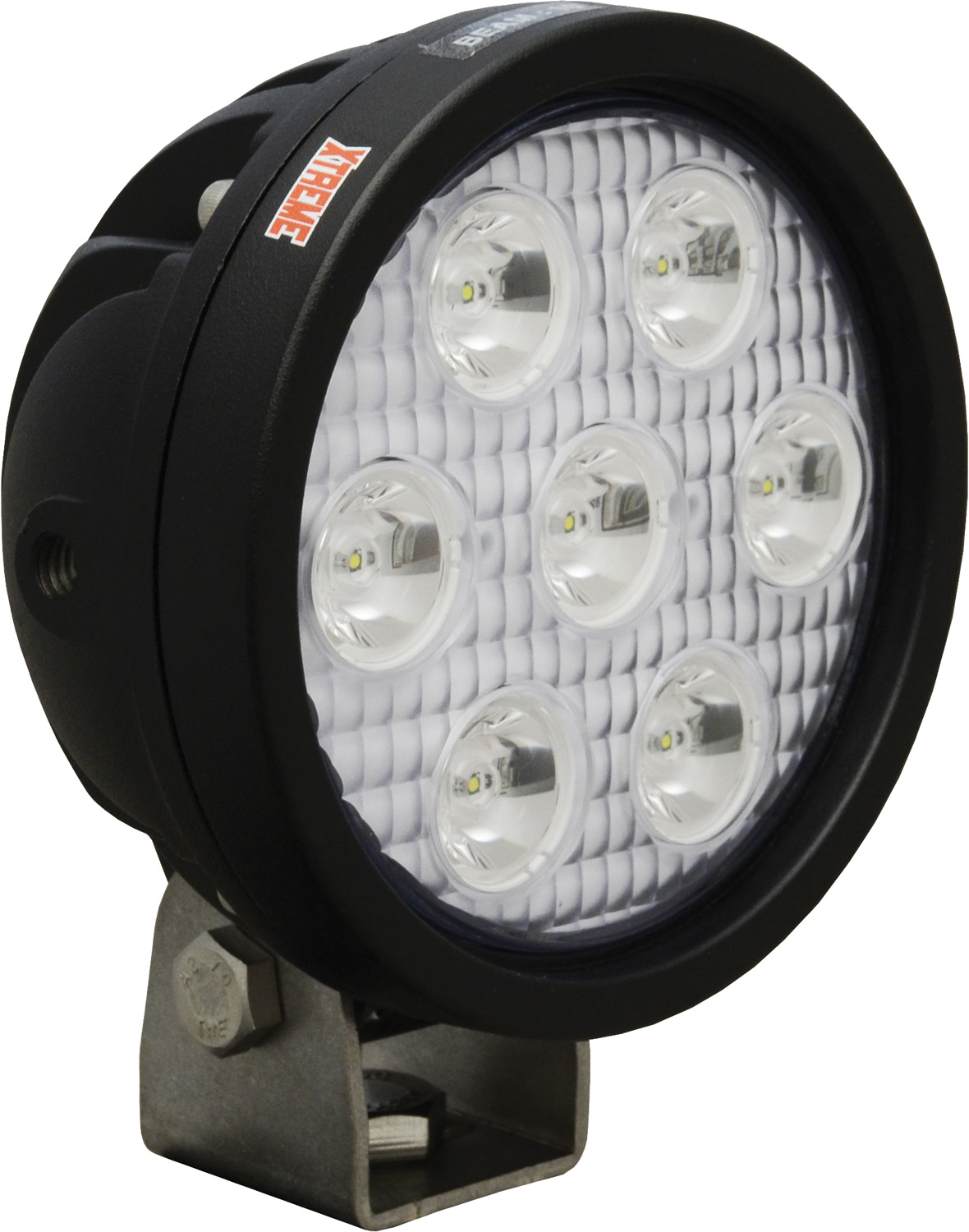 "4"" ROUND UTILITY MARKET XTREME BLACK 7 5W LED'S 10ç NARROW"