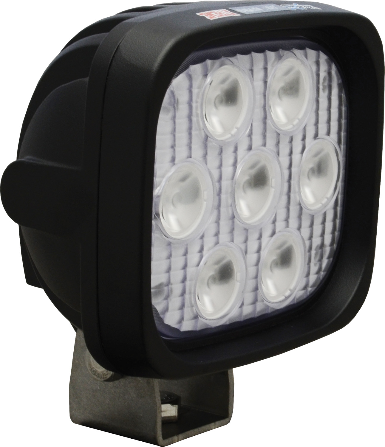 "4"" SQUARE UTILITY MARKET XTREME BLACK 7 5W LED'S 60ç WIDE"