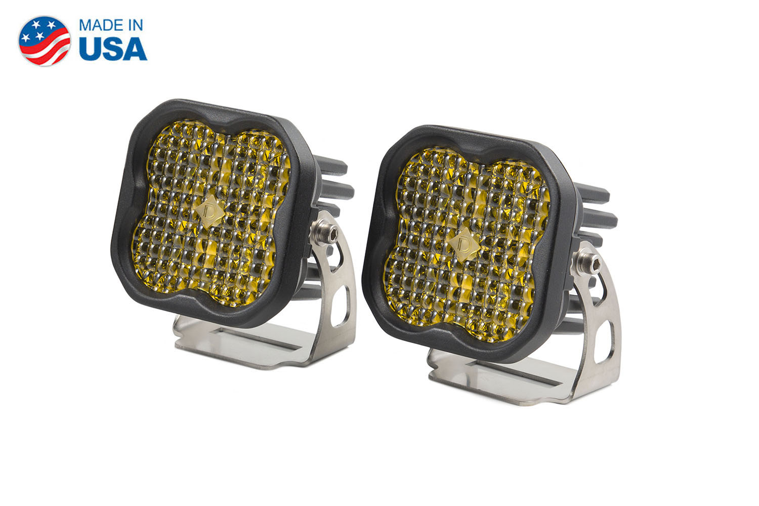 Diode Dynamics Worklight SS3 Pro Yellow Flood Standard (pair)