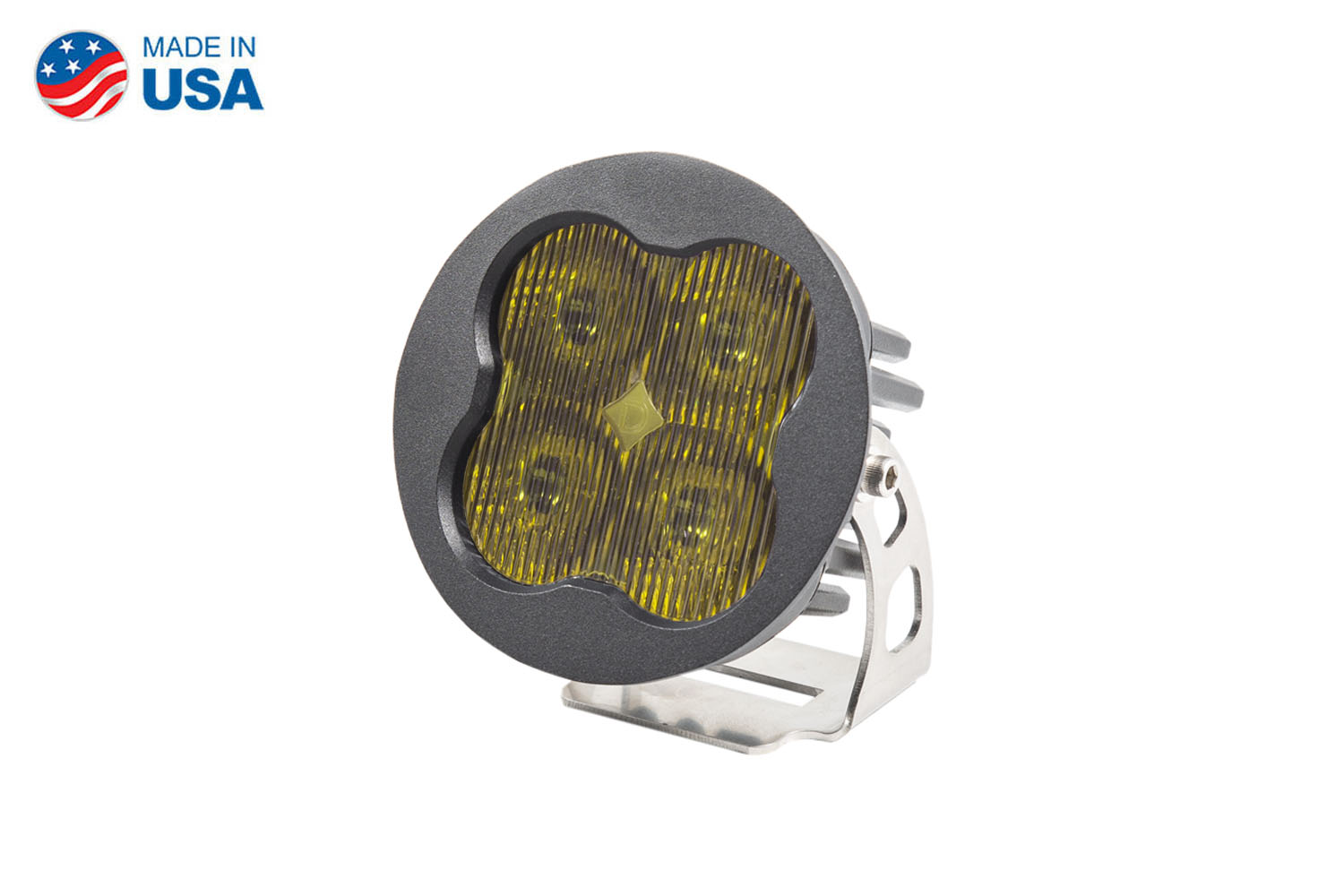 Diode Dynamics Worklight SS3 Sport Yellow SAE Fog Round (single)