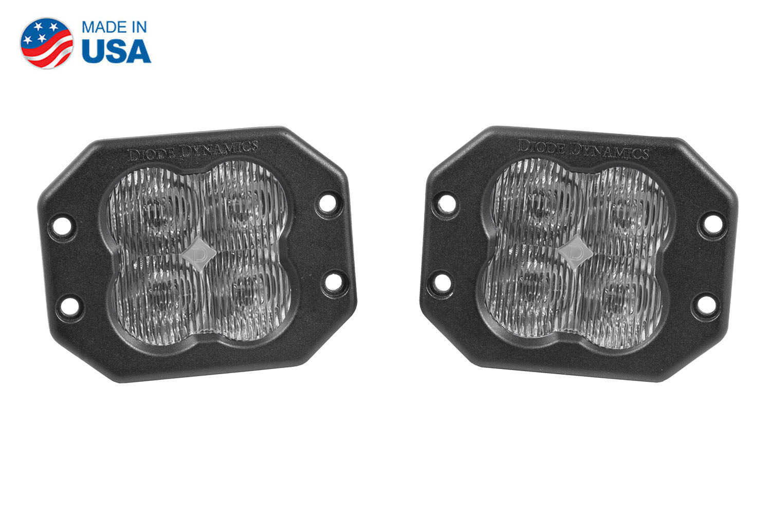 Diode Dynamics Worklight SS3 Pro White SAE Fog Flush (pair)