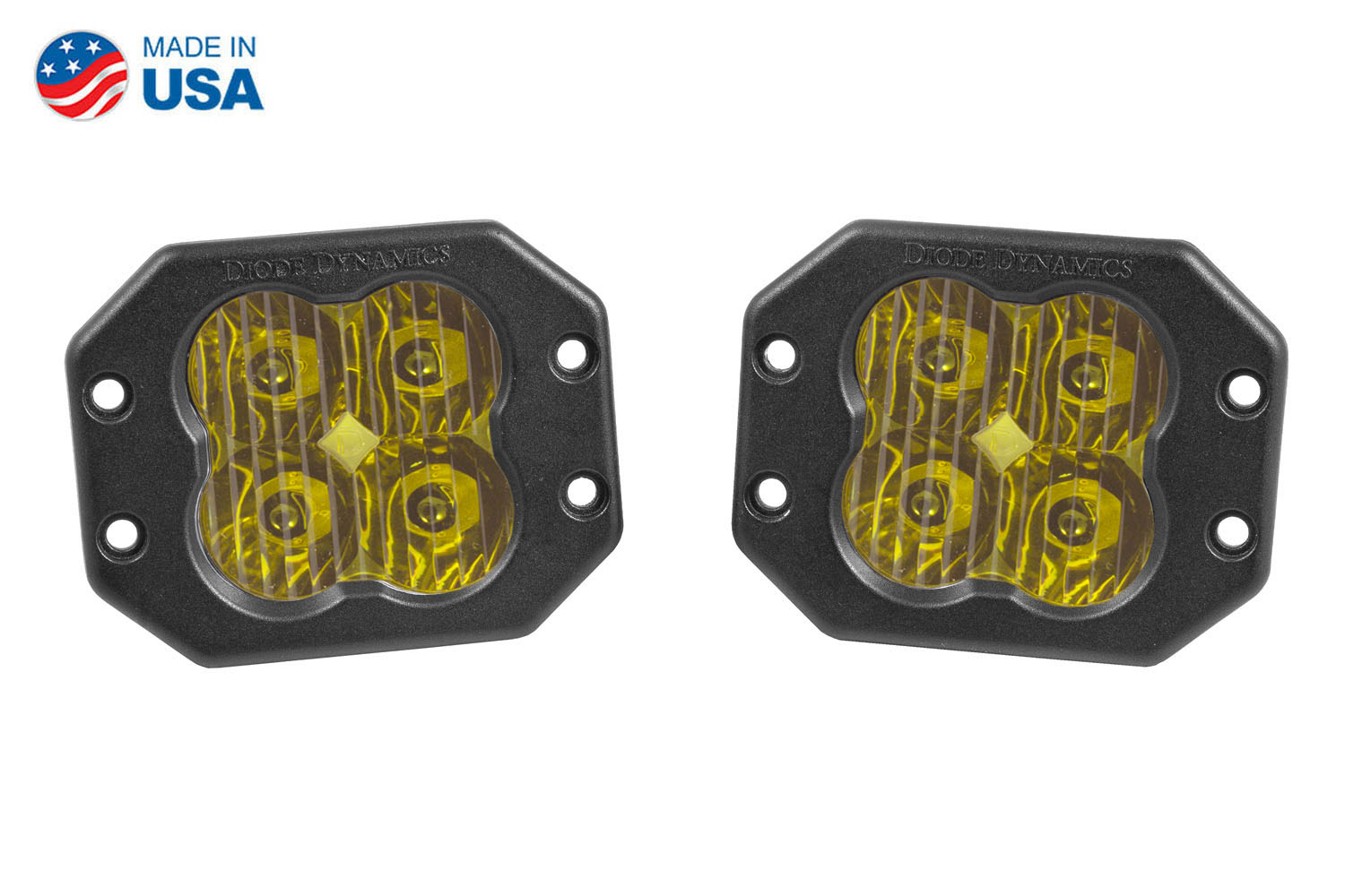 Diode Dynamics Worklight SS3 Pro Yellow Driving Flush (pair)