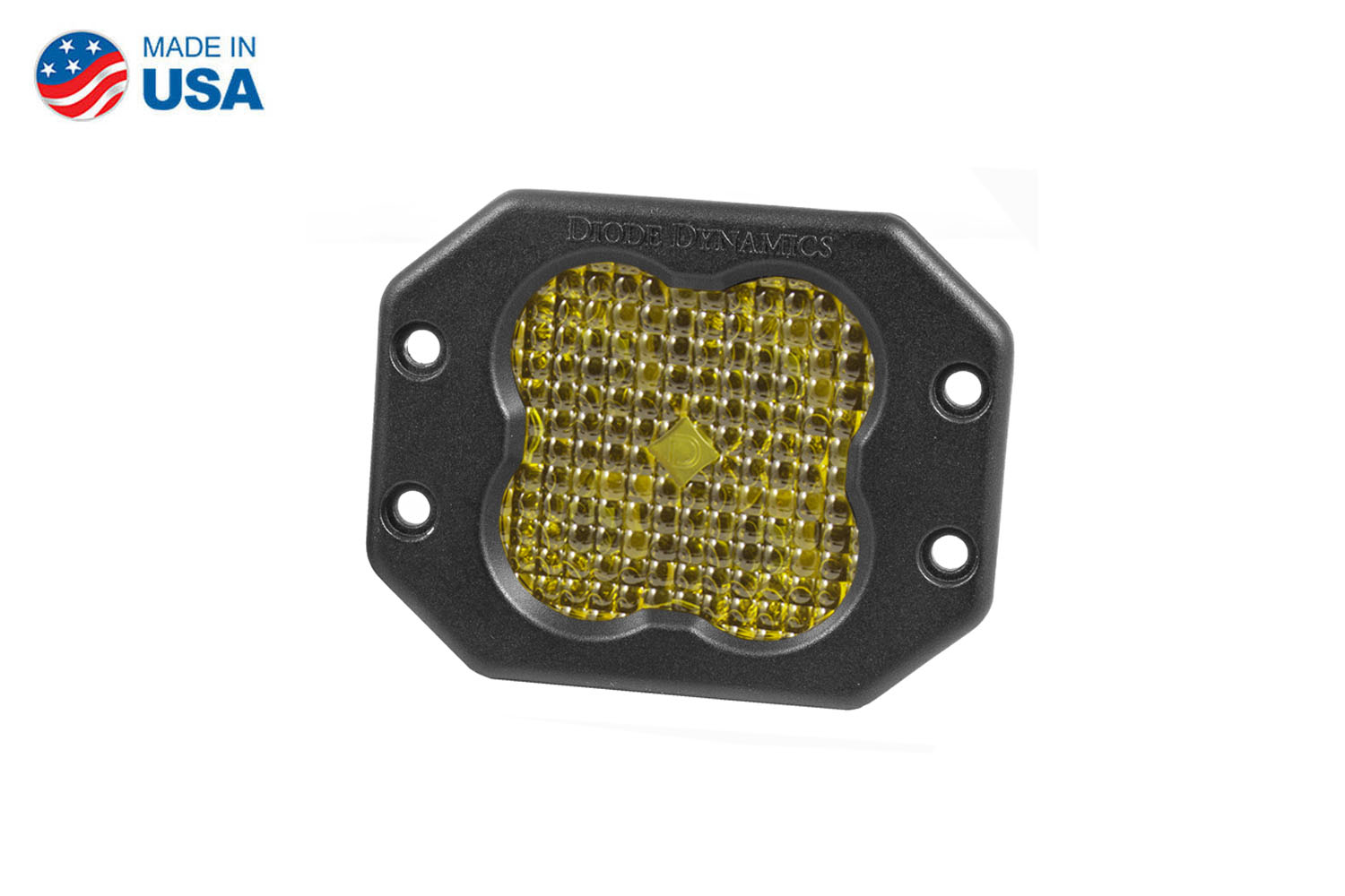 Diode Dynamics Worklight SS3 Pro Yellow Flood Flush (single)