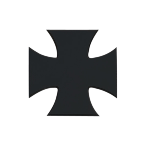 "X-METAL Series - ""Rebel"" Iron Cross - Black approx 5"" x 5"""