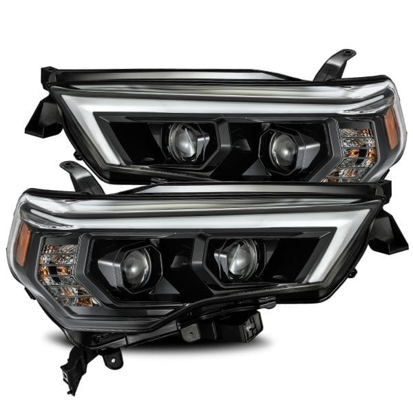 AlphaRex 4Runner PRO-Series Projector Headlights, Mid-Night Black 2014+ - Ships Free