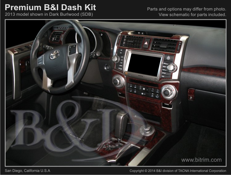 B&I 4Runner Premium Dash Trim Kit (38 pcs) - Gen 4