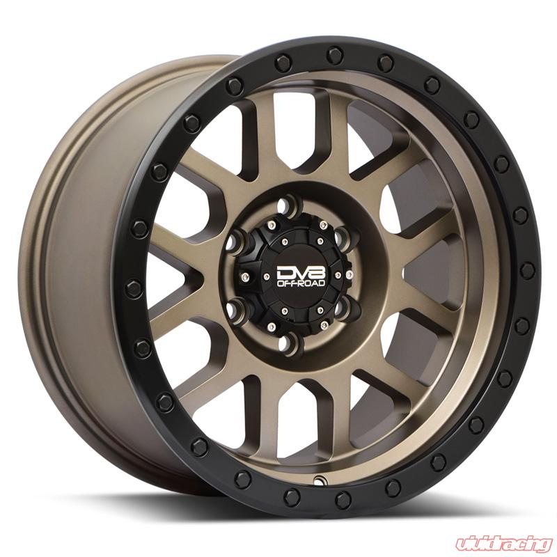 DV8 Off-Road REV 883 Matte Bronze w/ Machined Ring 17x9 0mm Offset