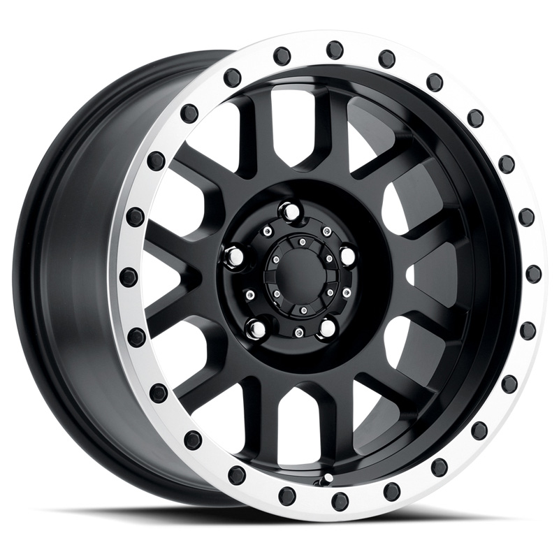 DV8 Off-Road REV 883 Matte Black w/ Machined Ring 17x9 0mm Offset