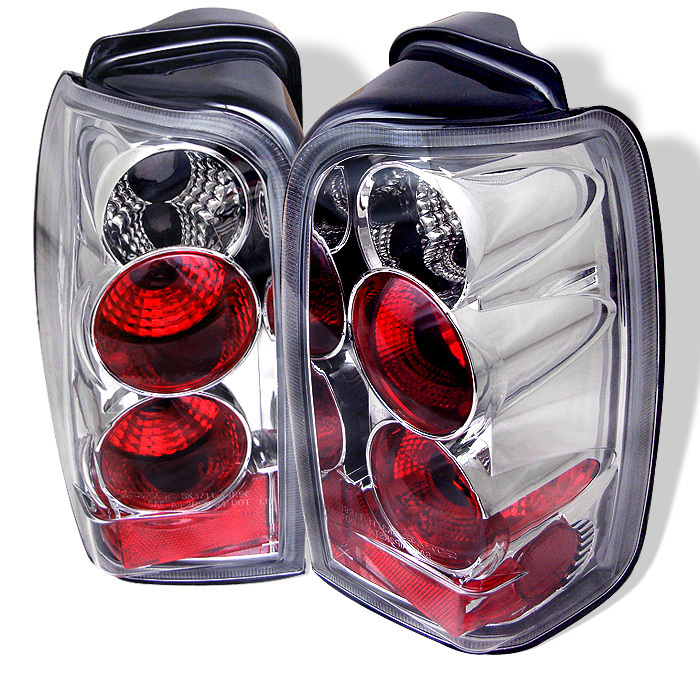 Spyder 4 Runner 96-02 Euro Style Tail Lights - Chrome 1996-2002