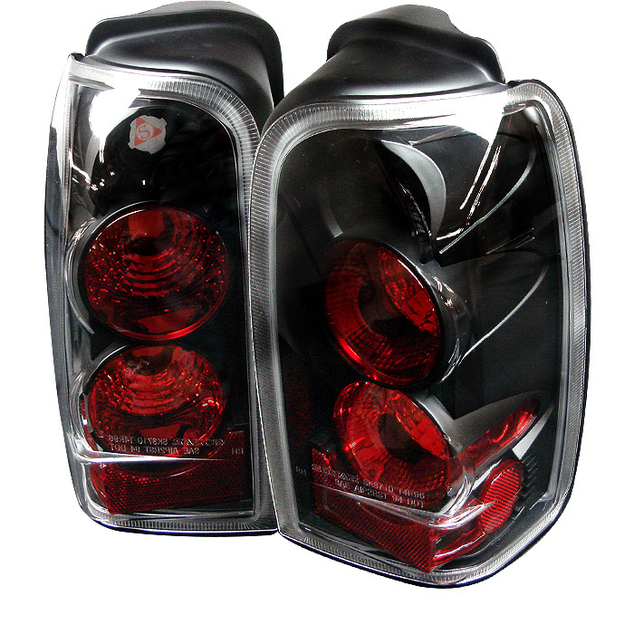 Spyder 4 Runner 96-02 Euro Style Tail Lights - Black 1996-2002