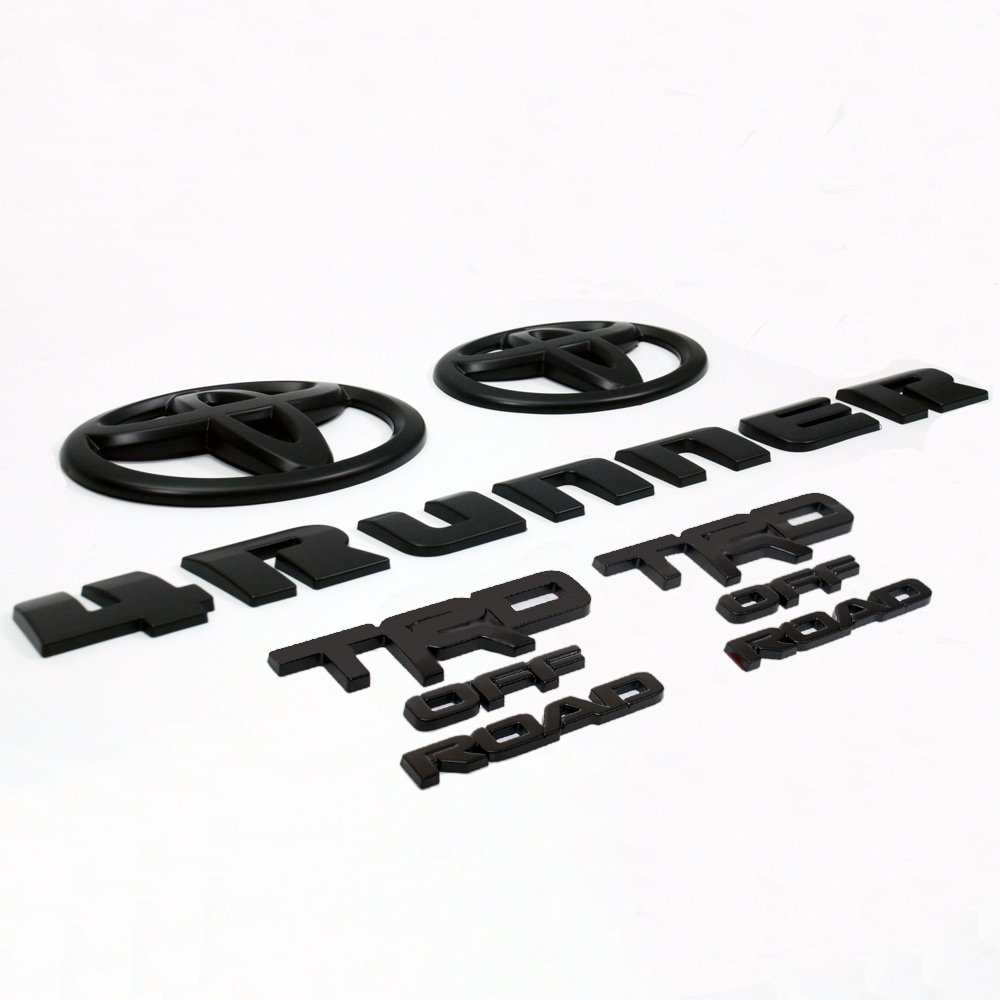 TRD 4Runner inchOFF ROAD inch Black-out Badge Coverlay Kit 2018+