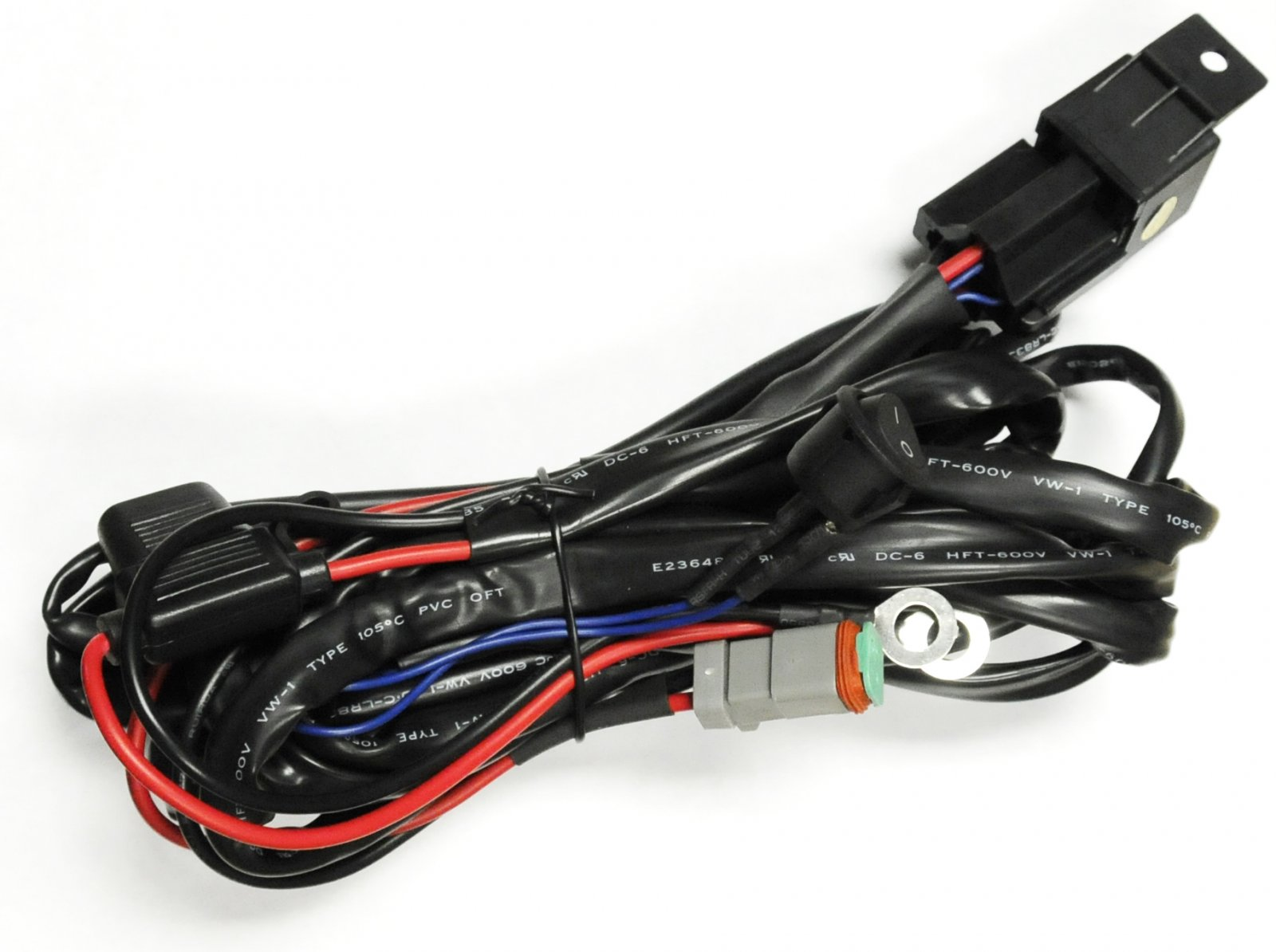 Universal Wiring Harness Includes On Off Switch Relays Fuse Connector Types Terminal Connectors