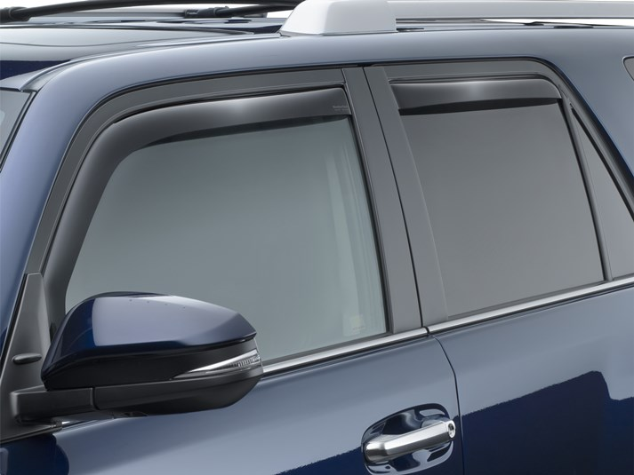 WeatherTech Side Window Deflectors - Double Cab - Dark Smoke - (Set of 4) 2010+