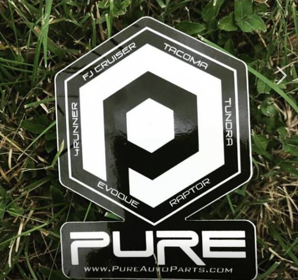 *PURE* branded sticker - Black & White Gloss (3x4in)