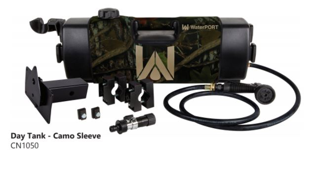 WaterPORT 4 Gallon Day Tank - Camo Sleeve - 3 Mounting Options