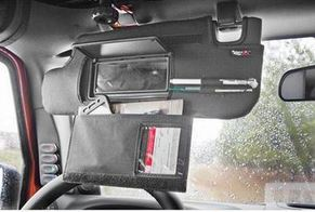 Rugged Ridge Sunvisor Organizer (Black Vinyl)