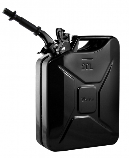 Wavian Black 5.3 Gallon Steel Fuel Can