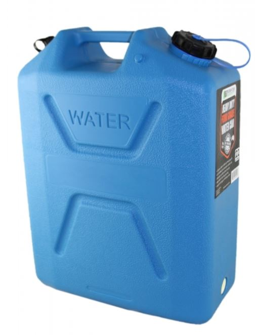 Wavian Heavy Duty Plastic 5 Gallon Water Can Blue (1 can)