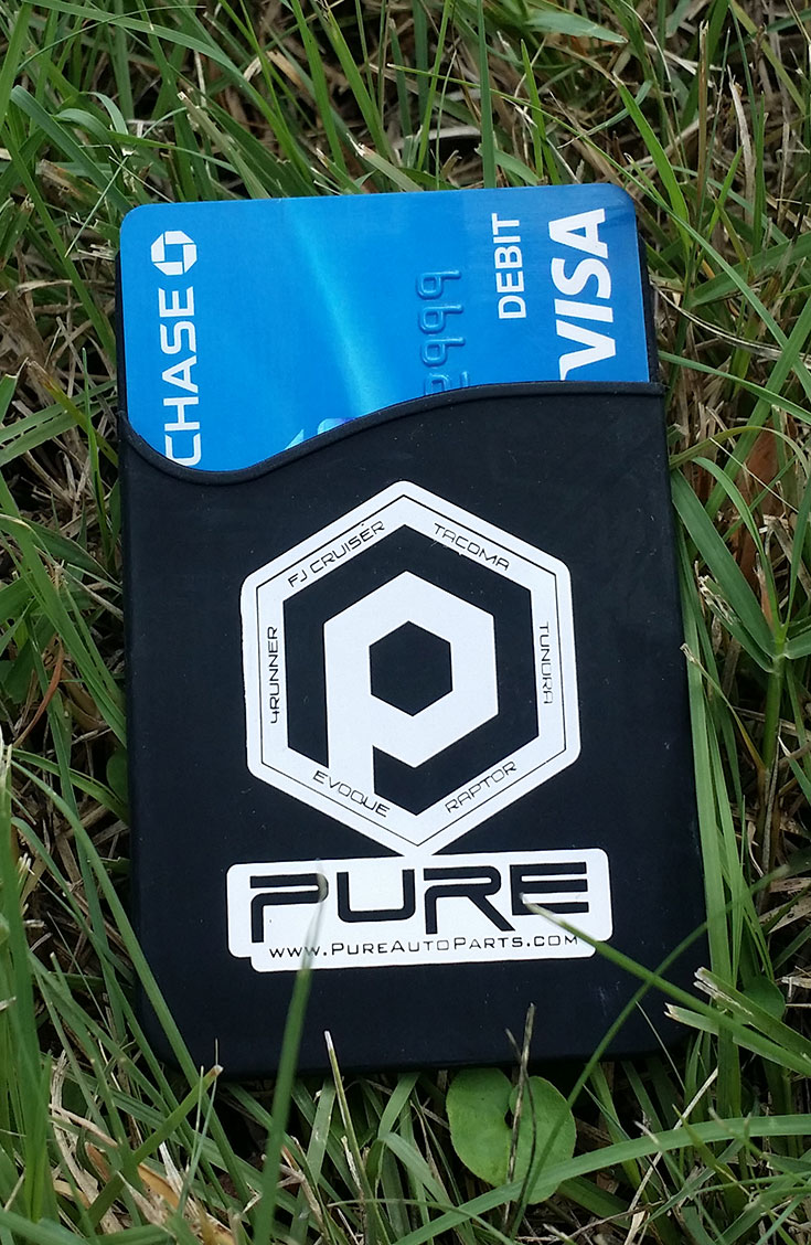 *PURE* branded silicone mobile pocket or cell phone credit card holder