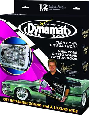 "Dynamat 12"" x 36"" x 0.067"" Thick Self-Adhesive Sound Deadener with Xtreme Door Kit"
