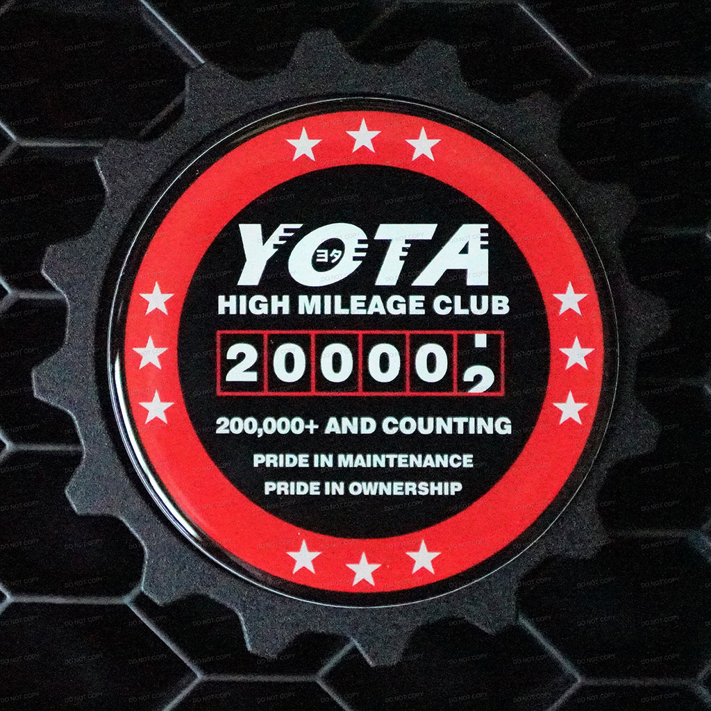 200K Mile Badge