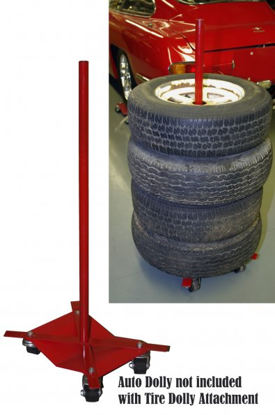 Auto Dolly Tire Stacker Attachment