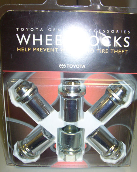 Toyota Wheel Locks - Chrome - OEM