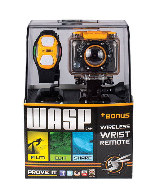 WASPcam Action Sports Camera w/Wrist Remote